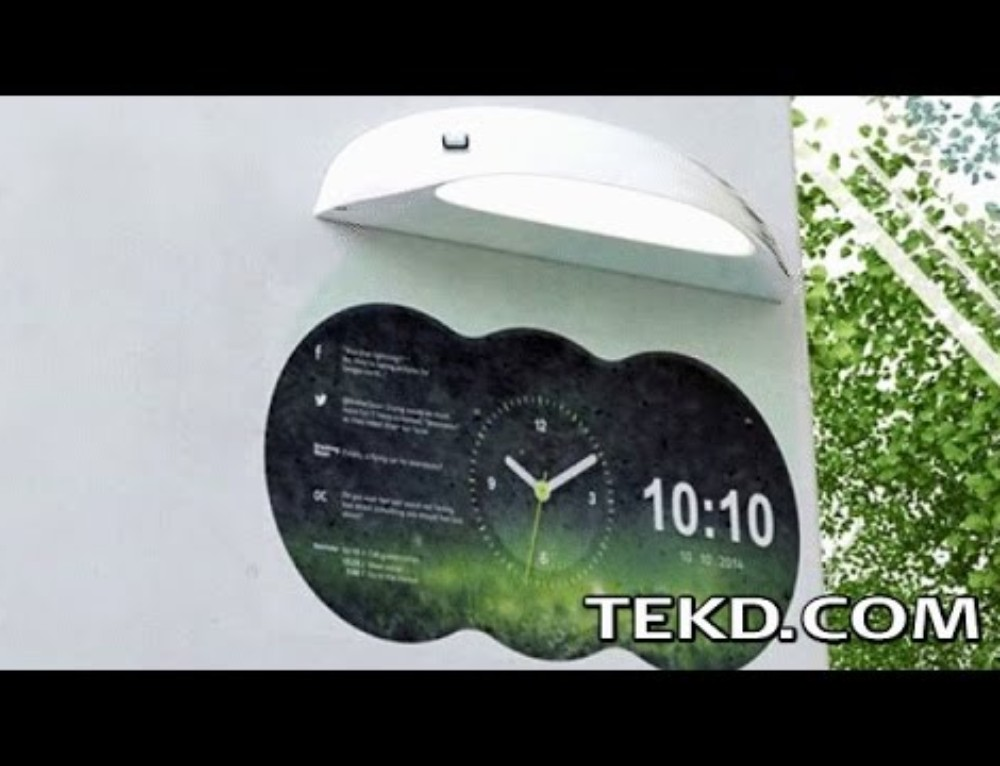 Coolest Clock Turns Walls into Projection Clocks