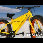 The All-Terrain Storm E-Bike goes Fifty Miles on a Charge