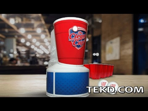 Clean Cup Defunks Beer Pong Balls for Kinder Makes